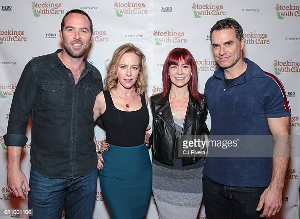 Sullivan Stapleton Amy Hargreaves Carrie Preston and Murray Bartlett attend the 25th Anniversary Stockings with Care Gala at The Bowery Hotel on...