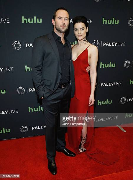 Sullivan Stapleton and Jaimie Alexander attends PaleyLive NY an evening with the cast creator of Blindspot at The Paley Center for Media on April 11...
