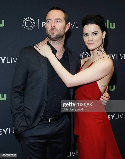 Sullivan Stapleton and Jaimie Alexander attends PaleyLive NY an evening with the cast creator of 'Blindspot' at The Paley Center for Media on April...