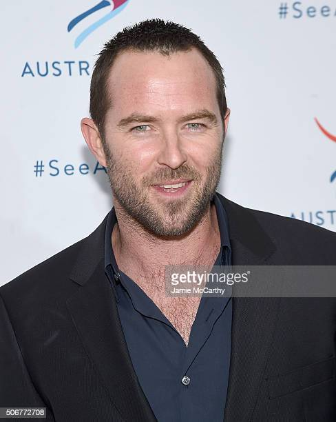 Sullivan Stapleton attends the There's Nothing Like Australia Campaign Launch at Celsius at Bryant Park on January 25 2016 in New York City