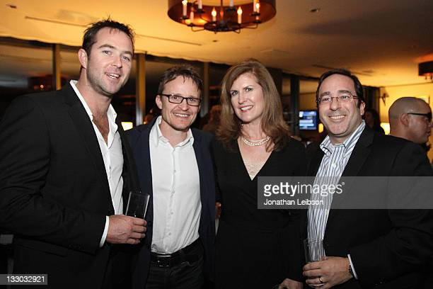 Sullivan Stapleton, Damon Herriman, Kelly Atkinson and Guest attend the Time Warner Cable Signature Home Celebrity Event At The Soho House on...