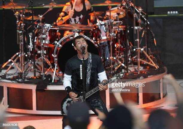 Sully Erna of Godsmack performs during Crue Fest 2 at Shoreline Amphitheatre on July 30 2009 in Mountain View California