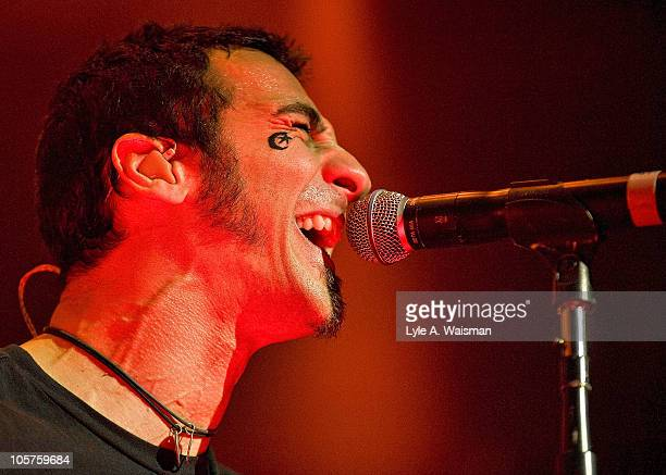 Sully Erna of the band Godsmack performs at the Rosemont Theatre on October 15, 2010 in Chicago, Illinois.