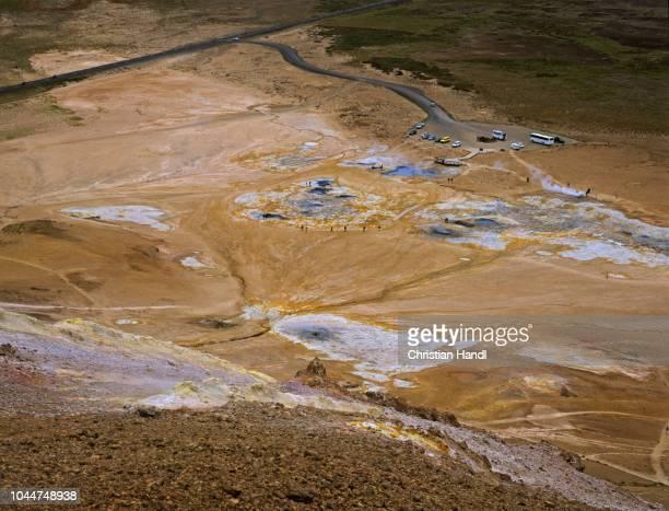 Sulphur and solfatara at the hill Namafjall (432m), Myvatn, Iceland