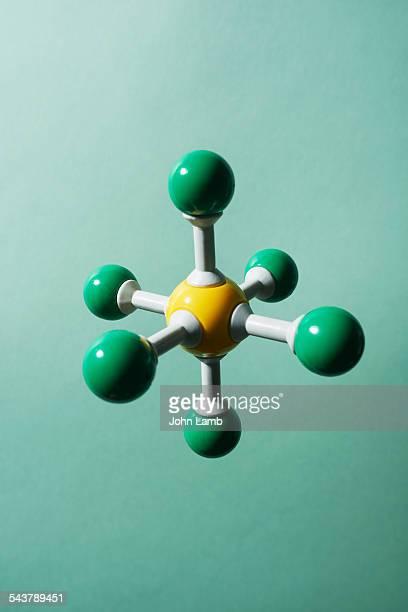 sulphur hexachloride - atom stock photos and pictures