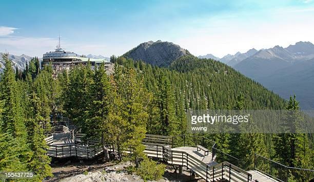sulphur mountain gondola lookout - sulphur mountain stock pictures, royalty-free photos & images
