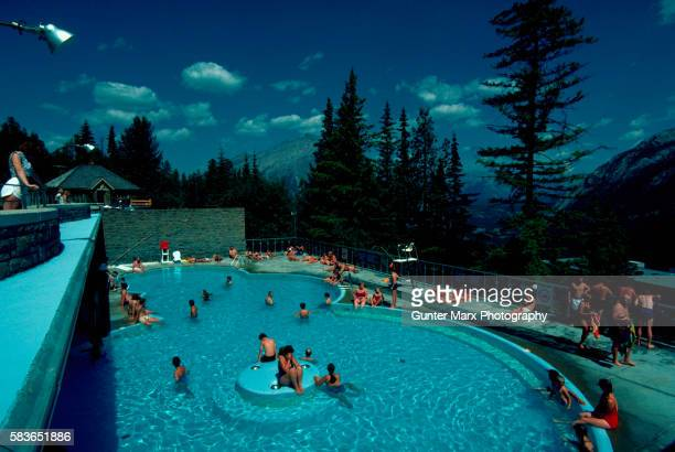 Sulphur Mountain Hot Springs in Banff, Canadian Rockies