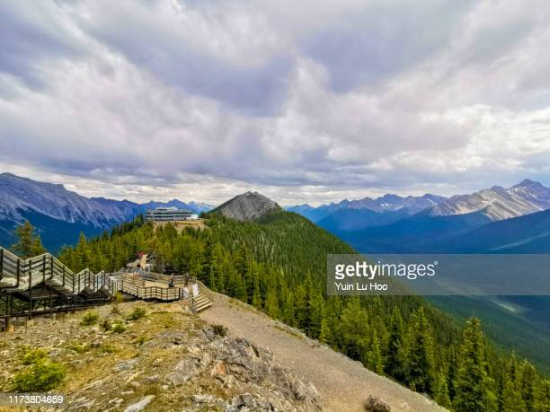 sulphur mountain vista, banff national park, canada - sulphur mountain stock pictures, royalty-free photos & images