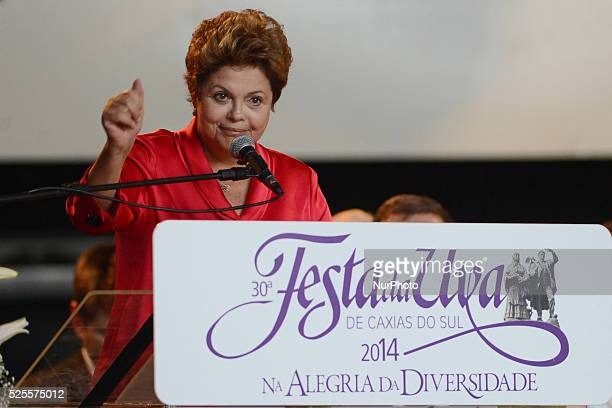 The Presindent of Brasil Dilma Rousseff during the grape festival opening at Caxias do SulRS FotoEdu Andrade/FatoPress/Urbanandsport/NurPhoto