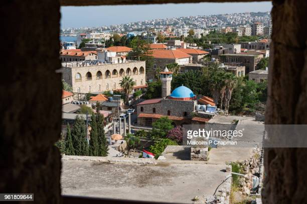 Sultan Abdul Majid Mosque (mid 1600's), viewed from the Crusader citadel, Byblos Lebanon