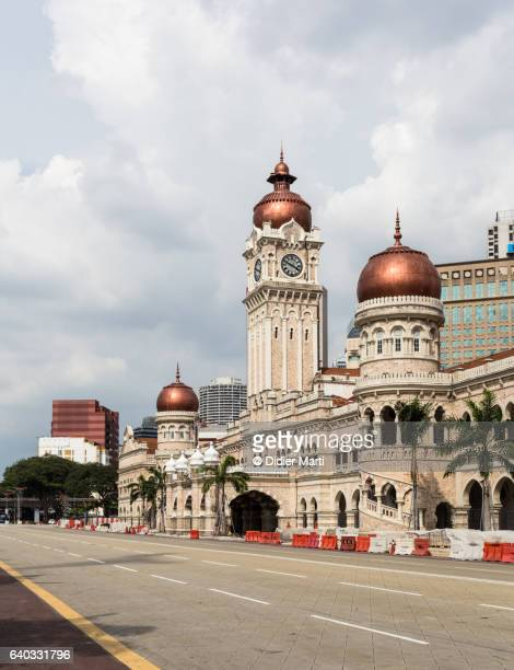 sultan abdul samad building in kuala lumpur, malaysia capital city. - kuala lumpur stockfoto's en -beelden