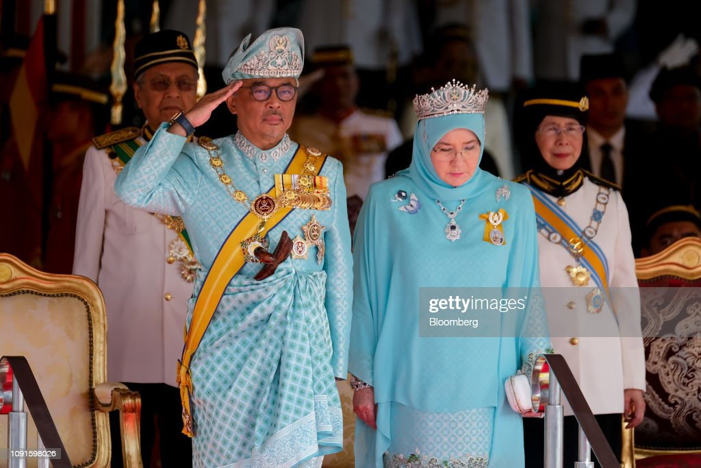 Malaysia Crowns Pahang Ruler as NewKingin Traditional Ceremony : News Photo