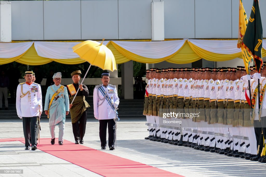 Malaysia Crowns Pahang Ruler as New King in Traditional Ceremony : News Photo
