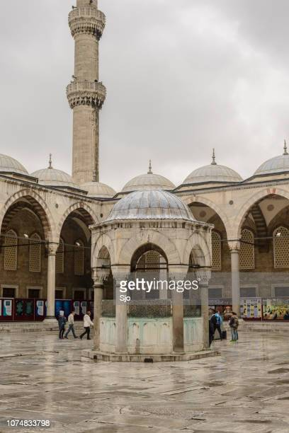 Sultan Ahmed Mosque or Blue Mosque detail in Istanbul Turkey