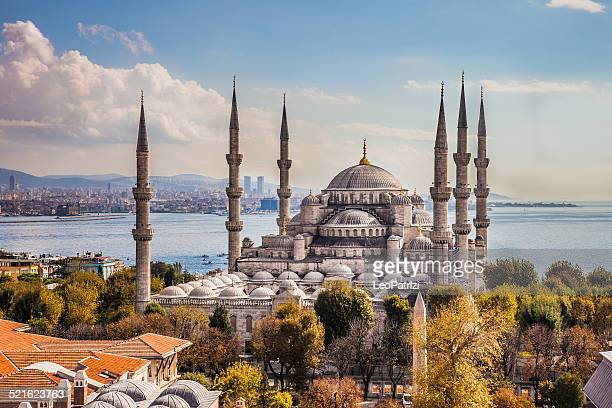 sultan ahmet camii - blue mosque in istanbul - mosque stock pictures, royalty-free photos & images