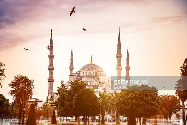 sultan ahmet camii - blue mosque in istanbul - minaret stock pictures, royalty-free photos & images
