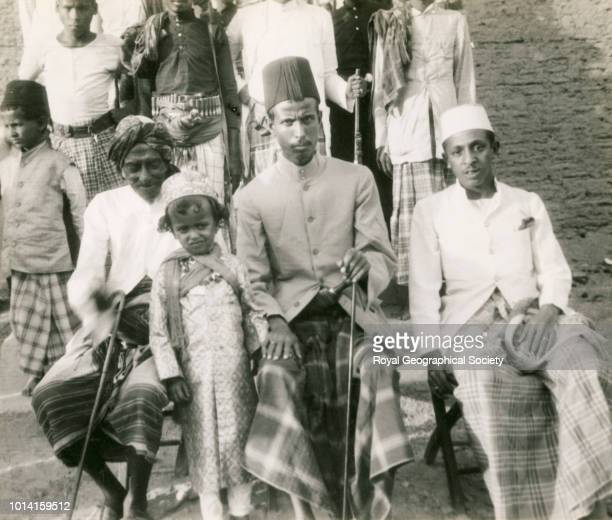 Sultan Ali Kuaiti of Shibam and his family Hadhramaut Yemen 1929