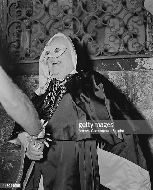 Sultan Muhammed Shah Aga Khan III at a masked costume ball at the Palazzo Labia Venice 3rd September 1951 Named 'Le Bal Oriental' and described in...