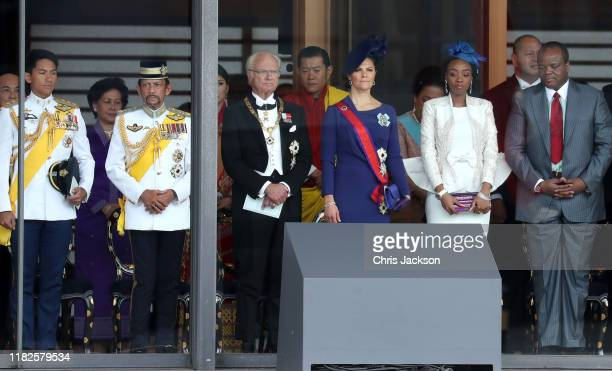 Sultan of Brunei Hassanal Bolkiah, King Carl XVI Gustaf of Sweden, King of Bhutan, Jigme Khesar Namgyel Wangchuck, Crown Princess Victoria of Sweden...