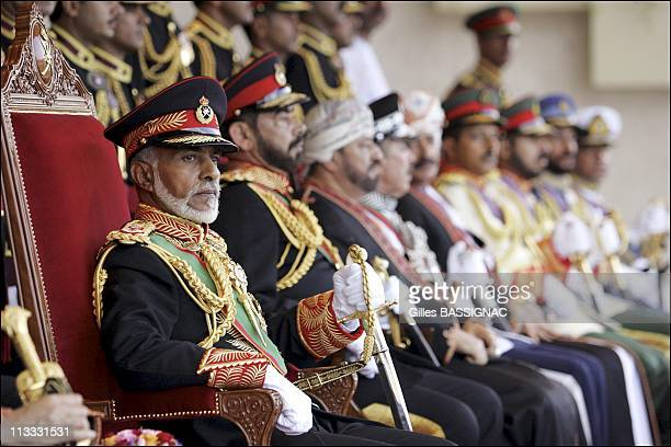 Sultan Of Oman Qaboos Bin Said Presides The Military Parade At The Al Fateh Stadium For The National Day 35Th Anniversary On November 18Th 2005 In...