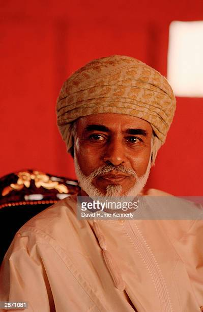 Sultan Qaboos bin Said meets with U.S. Secretary of Defense Donald Rumsfeld October 5, 2001 in a red tent in the Omani desert near Muscat in Oman....