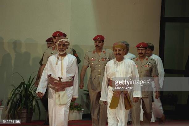 Sultan Qaboos Bin Said opens an exhibition on Omani products during the festivities