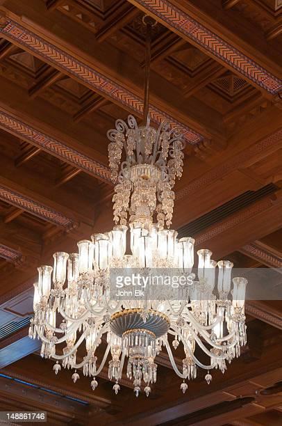 sultan qaboos grand mosque, chandelier. - qaboos bin said al said stock pictures, royalty-free photos & images
