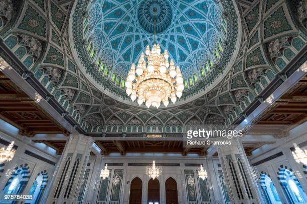 sultan qaboos grand mosque chandelier - world record stock pictures, royalty-free photos & images