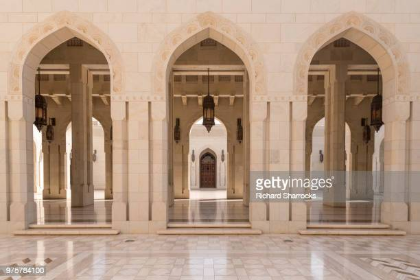 sultan qaboos grand mosque, muscat, oman - mosque stock pictures, royalty-free photos & images