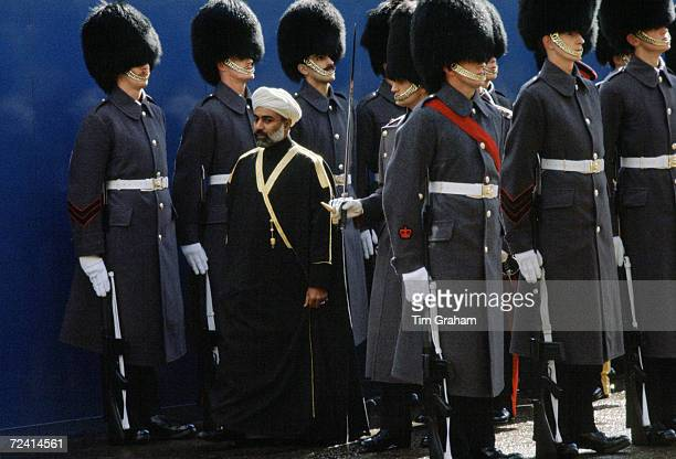 Sultan Qaboos of Oman in London during a state visit United Kingdom