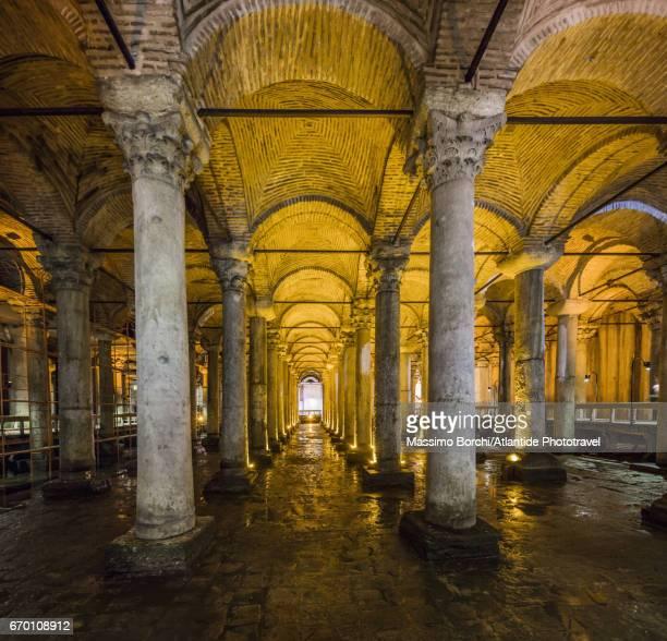 Sultanahmet, Basilica Cistern (Yerebatan Sarayi), the interior