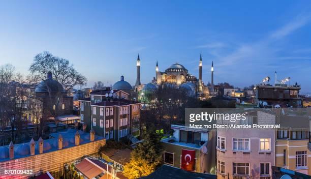 Sultanahmet, the town and Santa Sofia (Hagia Sophia or Aya Sofya)