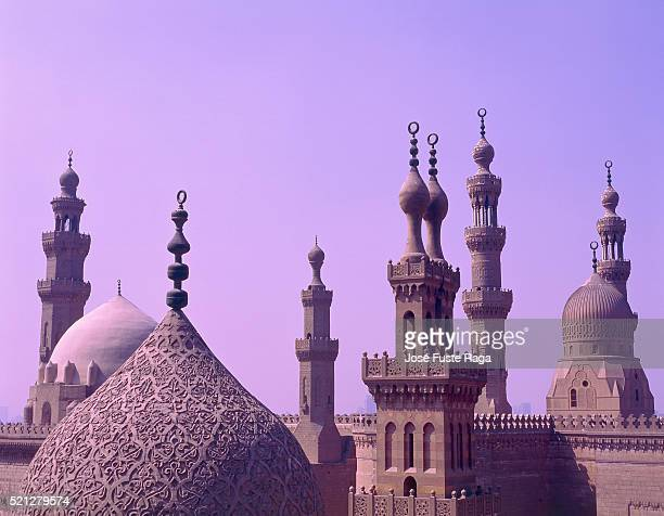 sultan-hassan-mosque, egypt, cairo purple - minaret stock pictures, royalty-free photos & images
