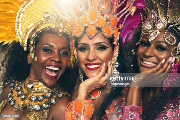 sultry samba queens - show girl stock photos and pictures