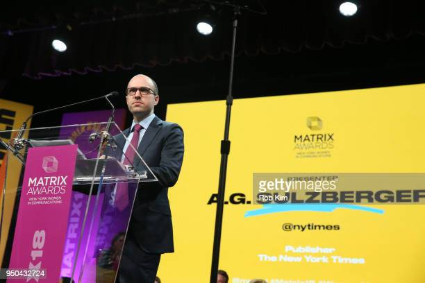 G Sulzberger attends the 2018 Matrix Awards at Sheraton Times Square on April 23 2018 in New York City