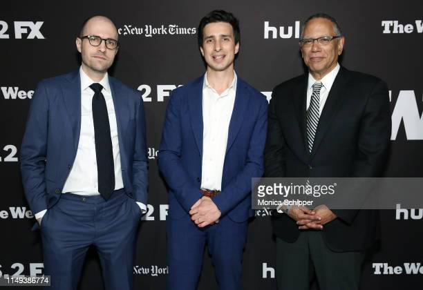 A G Sulzberger Sam Dolnick and Dean Baquet attend The Weekly New York Premiere at Florence Gould Hall Theater on May 15 2019 in New York City