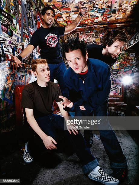 Sum 41 are photographed for Request Magazine in 2002 in CBGB in New York City COVER IMAGE