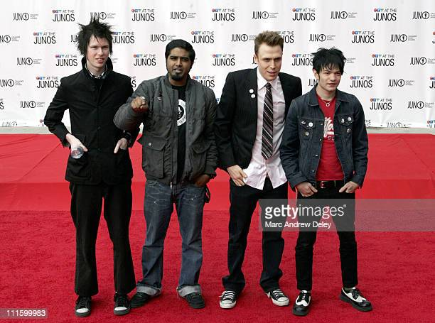 Sum 41 during 2005 Canadian Juno Awards Arrivals at MTS Centre in Winnipeg Manitoba Canada