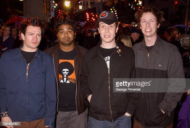 Sum 41 on the red carpet at the MMV Awards during MuchMusic Video Awards 2002 - Arrivals at Chum City Building in Toronto, Ontario, Canada.
