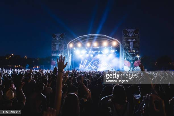 Sum 41 performs on stage during day 3 of Download festival 2019 at La Caja Magica on June 30 2019 in Madrid Spain