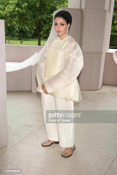 """Sumayya Vally attends """"Brian Eno: In A Garden"""", featuring his sound commission """"Back To Earth"""" in the 2021 Serpentine Pavilion at The Serpentine..."""