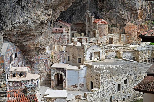 CONTENT] Sumela Monastery Altindere valley region of Maçka Trabzon Province Meryem Ana Virgin Mary Sumela Karadaglar Black Mountains priests Barnabas...