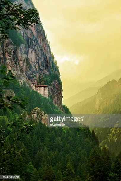 sumela monastery - trabzon stock photos and pictures
