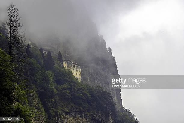 sumela monastery - sumela manastiri - trabzon stock photos and pictures