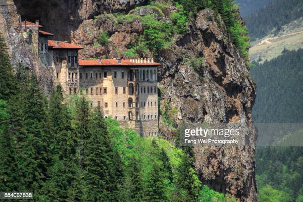 sumela monastery, trabzon, black sea region, turkey - trabzon stock photos and pictures
