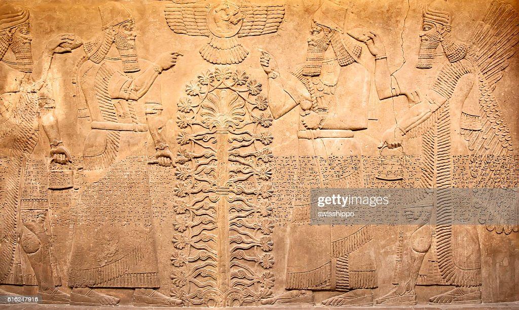Artefactos Sumerian : Foto de stock