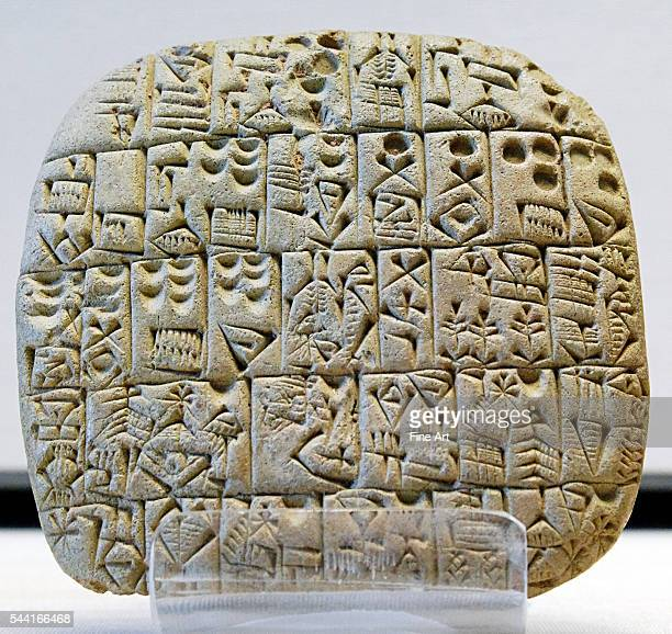 selling of a field and a house Shuruppak precuneiform script | Located in Musee du Louvre