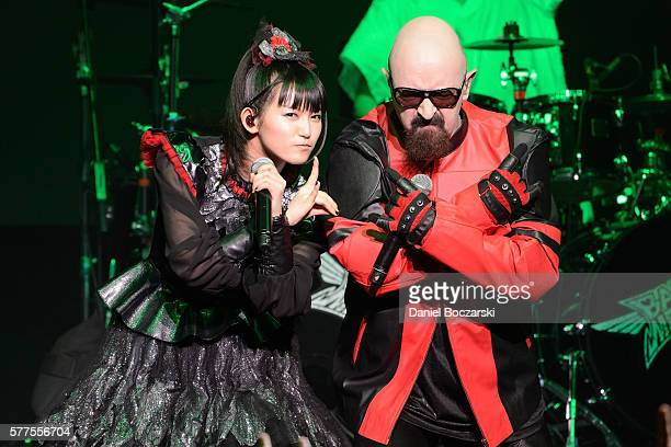 Sumetal of Babymetal and Rob Halford of Judas Priest perform during the Alternative Press Music Awards 2016 at Jerome Schottenstein Center on July 18...
