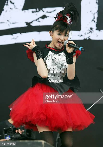 Sumetal of Babymetal performs at Day 2 of the Sonisphere Festival at Knebworth Park on July 5 2014 in Knebworth England