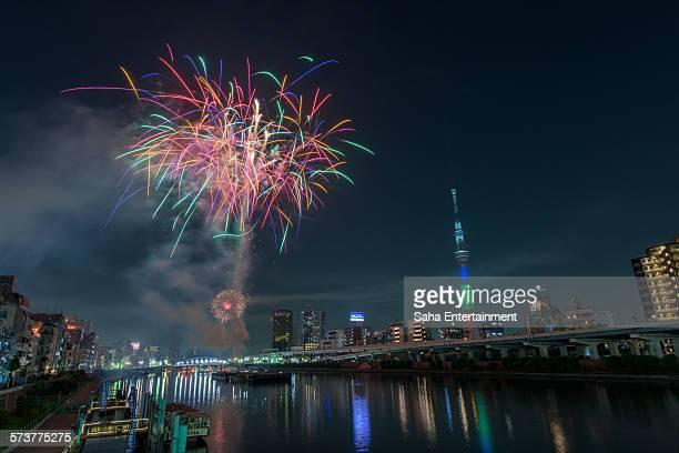 Sumida Fireworks and Tokyo Sky Tree